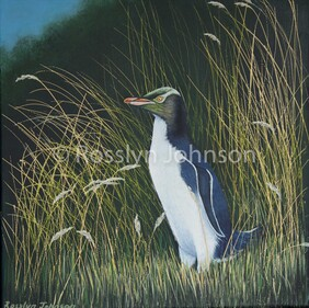 """Endangered"", Yellow eyed penguin SOLD"